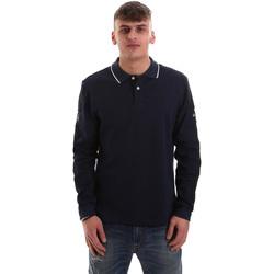 Textiel Heren Polo's lange mouwen La Martina OMPM36 JS169 Blauw