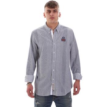 Textiel Heren Overhemden lange mouwen La Martina OMC021 PP472 Wit