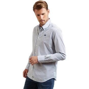 Textiel Heren Overhemden lange mouwen La Martina OMC016 PP462 Blauw