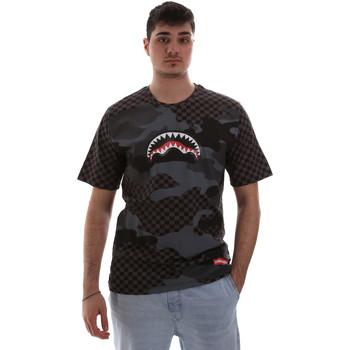 Textiel Heren T-shirts korte mouwen Sprayground SP018SBLA Zwart