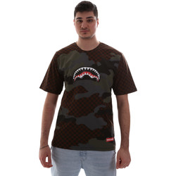 Textiel Heren T-shirts korte mouwen Sprayground SP018SBRO Bruin