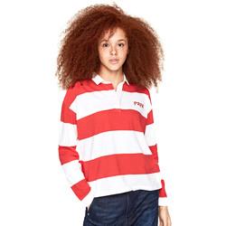 Textiel Dames Polo's lange mouwen Pepe jeans PL540046 Rood