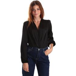 Textiel Dames Overhemden Gaudi 921FD45011 Zwart