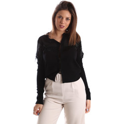 Textiel Dames Vesten / Cardigans Fracomina FR19FMMARIELLA Zwart