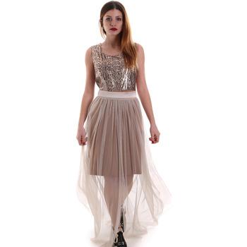 Textiel Dames Lange jurken Fracomina FR19FM518 Beige