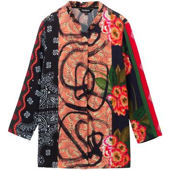 Textiel Dames Overhemden Desigual 19WWCW11 Zwart