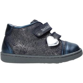 Schoenen Meisjes Hoge sneakers NeroGiardini A918001F Blauw