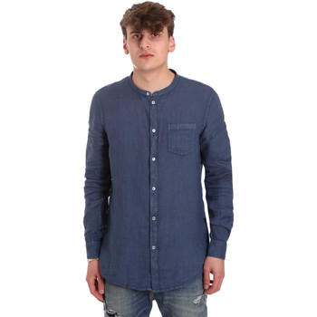 Textiel Heren Overhemden lange mouwen Gaudi 011BU45001 Blauw