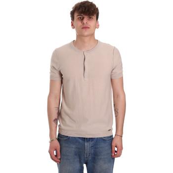 Textiel Heren T-shirts korte mouwen Gaudi 011BU53007 Beige