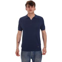 Textiel Heren Polo's lange mouwen Gaudi 011BU53010 Blauw