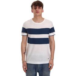 Textiel Heren T-shirts korte mouwen Gaudi 011BU53023 Beige