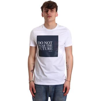 Textiel Heren T-shirts korte mouwen Gaudi 011BU64067 Wit
