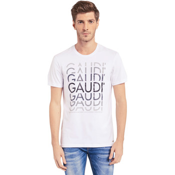 Textiel Heren T-shirts korte mouwen Gaudi 011BU64068 Wit