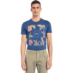 Textiel Heren T-shirts korte mouwen Gaudi 011BU64070 Blauw