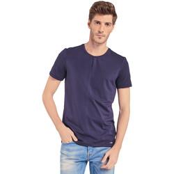 Textiel Heren T-shirts korte mouwen Gaudi 011BU64094 Blauw