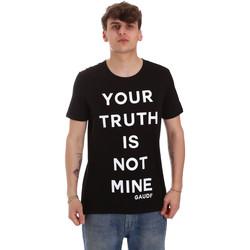 Textiel Heren T-shirts korte mouwen Gaudi 011BU64107 Zwart