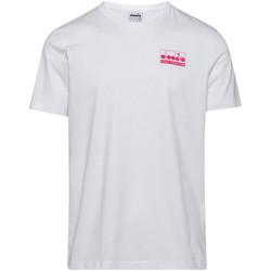 Textiel Heren T-shirts korte mouwen Diadora 502175837 Wit