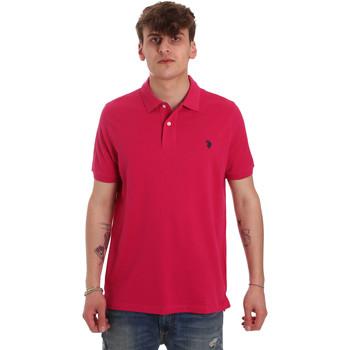 Textiel Heren Polo's korte mouwen U.S Polo Assn. 55957 41029 Roze