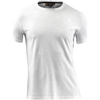 Textiel Heren T-shirts korte mouwen Lumberjack CM60343 004 517 Wit