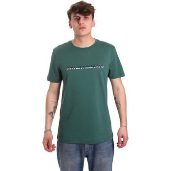 Textiel Heren T-shirts korte mouwen Antony Morato MMKS01754 FA100144 Groen