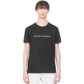 Textiel Heren T-shirts korte mouwen Antony Morato MMKS01754 FA100144 Zwart