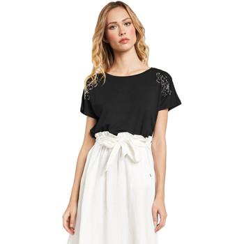 Textiel Dames T-shirts korte mouwen Gaudi 011FD64022 Zwart