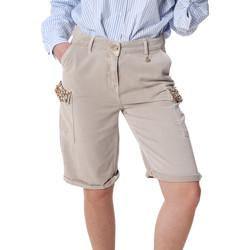 Textiel Dames Korte broeken / Bermuda's Fracomina FR20SP116 Beige