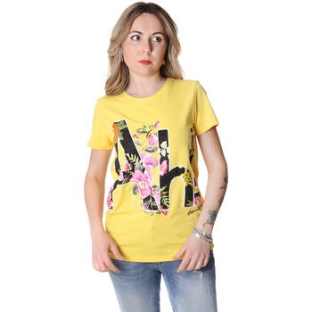 Textiel Dames T-shirts korte mouwen Fracomina FR20SP368 Geel