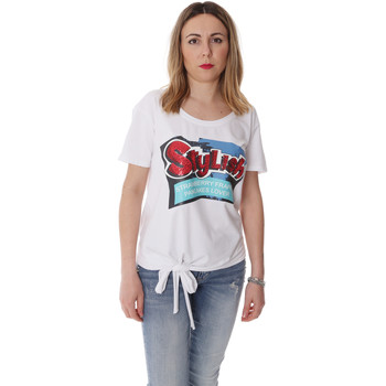 Textiel Dames T-shirts korte mouwen Fracomina FR20SP303 Wit