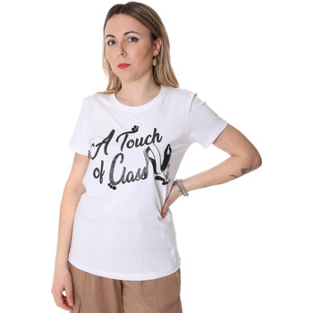 Textiel Dames T-shirts korte mouwen Fracomina FR20SP306 Wit