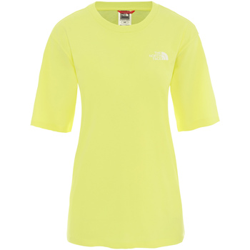Textiel Dames T-shirts korte mouwen The North Face NF0A4CESVC51 Geel