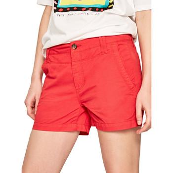 Textiel Dames Korte broeken / Bermuda's Pepe jeans PL800695 Rood