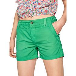 Textiel Dames Korte broeken / Bermuda's Pepe jeans PL800695 Groen