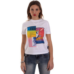 Textiel Dames T-shirts korte mouwen Versace B2HVB7V630331003 Wit