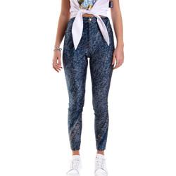 Textiel Dames Leggings Versace A1HVB009S0684904 Blauw