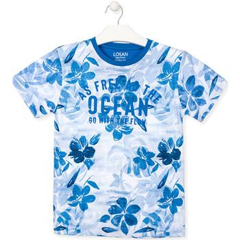 Textiel Jongens T-shirts korte mouwen Losan 013-1003AL Blauw