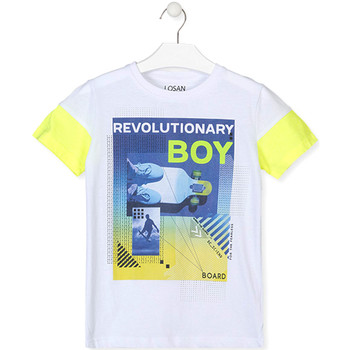 Textiel Jongens T-shirts korte mouwen Losan 013-1006AL Wit