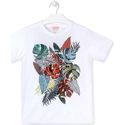 Textiel Jongens T-shirts korte mouwen Losan 013-1010AL Wit
