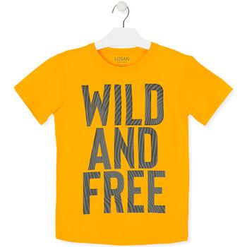 Textiel Kinderen T-shirts korte mouwen Losan 013-1018AL Geel