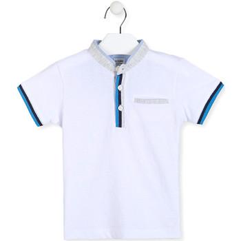 Textiel Jongens Polo's korte mouwen Losan 015-1791AL Wit