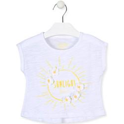 Textiel Meisjes T-shirts korte mouwen Losan 016-1006AL Wit