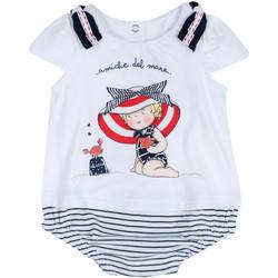 Textiel Meisjes Jumpsuites / Tuinbroeken Chicco 09050711000000 Wit