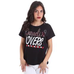 Textiel Dames T-shirts korte mouwen Gaudi 011BD64008 Zwart