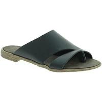 Schoenen Dames Leren slippers 18+ 6120 Zwart
