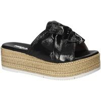 Schoenen Dames Leren slippers Pregunta IL02402-CL Zwart