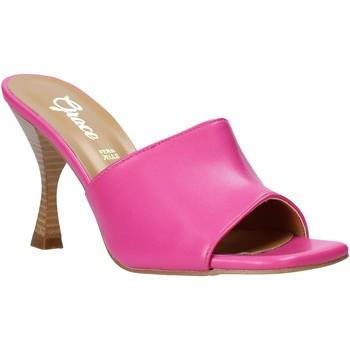 Schoenen Dames Leren slippers Grace Shoes 6293Y014 Roze