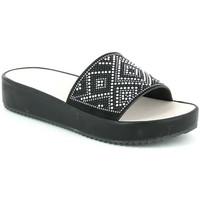 Schoenen Dames Leren slippers Grunland CI1287 Zwart