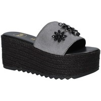 Schoenen Dames Leren slippers Exé Shoes G47008347A13 Zwart
