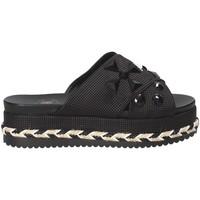 Schoenen Dames Leren slippers Exé Shoes G41006307001 Zwart