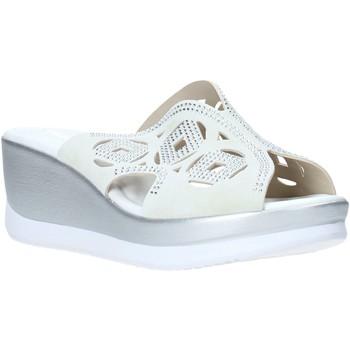 Schoenen Dames Leren slippers Valleverde 32150 Wit